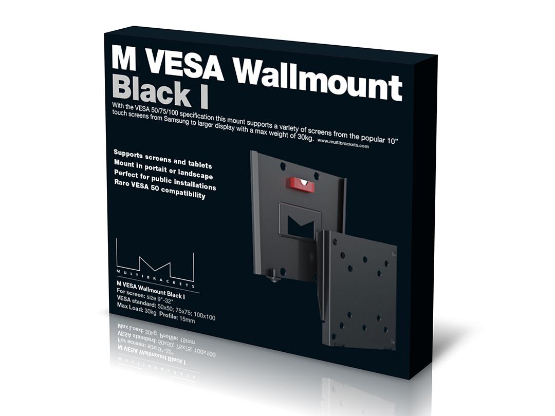 M Vesa Wallmount I Black 50x50 75x75 100x100 Multibrackets