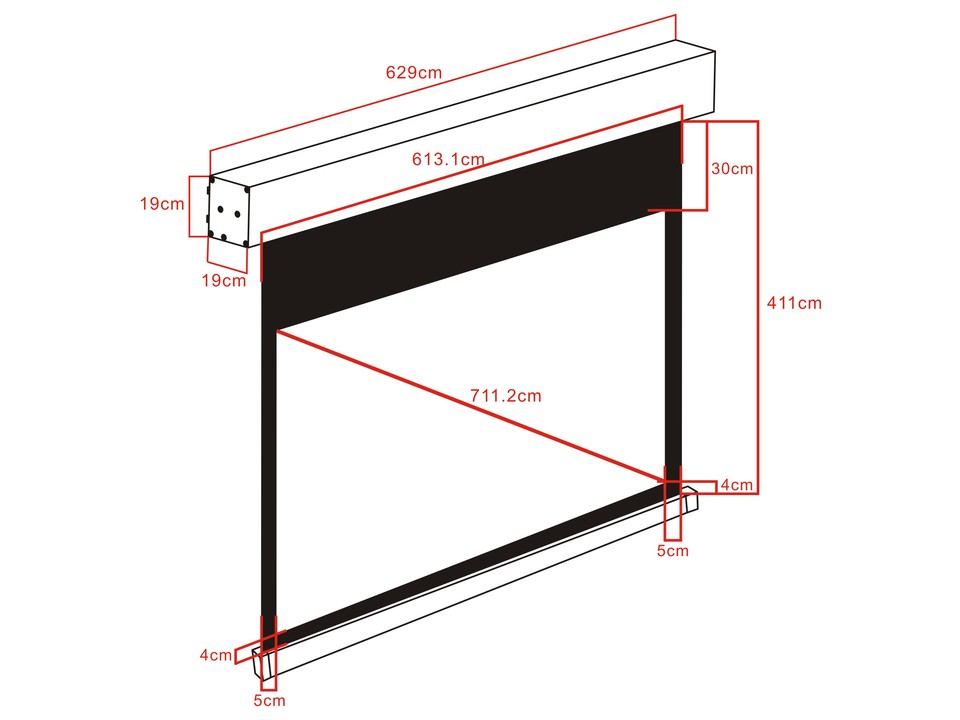M 16 10 Motorized Projection Screen 603 1x377  280 U0026quot