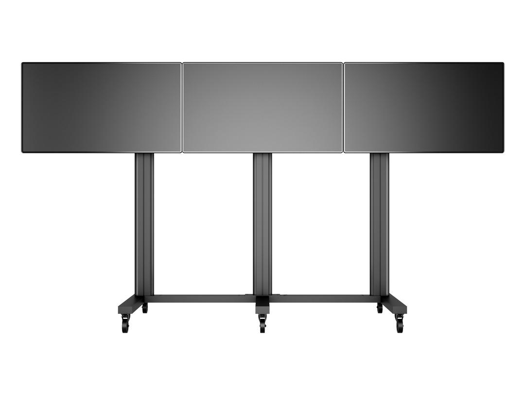 M Public Video Wall Stand 3-screens 40-55